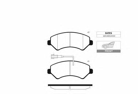 Комплект тормозных колодок, дисковый тормоз GOODWILL 1092 F