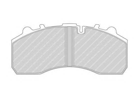 FERODO (НОМЕР: FCV1914FE) Комплект тормозных колодок, дисковый тормоз