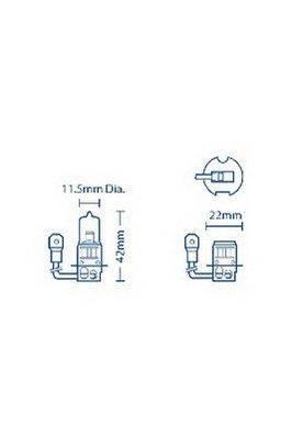 Лампа накаливания, фара дальнего света; Лампа накаливания, основная фара; Лампа накаливания, противотуманная фара ACDelco ACBU1011