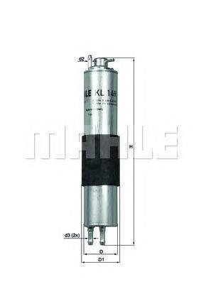 Топливный фильтр MAHLE ORIGINAL KL149