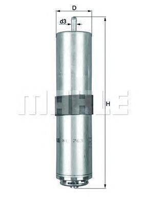 Топливный фильтр MAHLE ORIGINAL KL763D