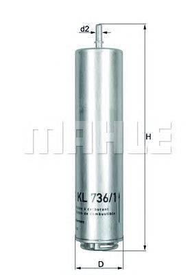 Топливный фильтр MAHLE ORIGINAL KL7361D