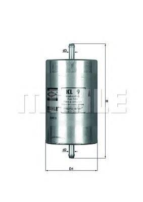 Топливный фильтр MAHLE ORIGINAL KL9
