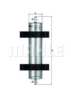 Топливный фильтр MAHLE ORIGINAL KL478