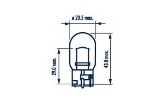 Лампа накаливания, фонарь указателя поворота; Лампа накаливания, фонарь указателя поворота NARVA 17629