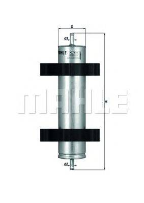 Топливный фильтр KNECHT KL478