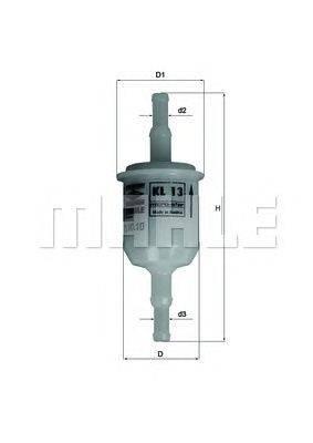 Топливный фильтр MAHLE ORIGINAL KL13OF