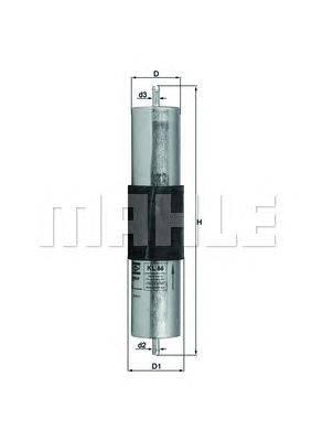 Топливный фильтр MAHLE ORIGINAL KL66