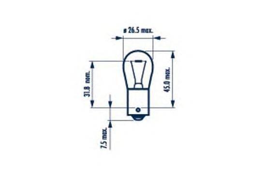 Лампа накаливания, фонарь сигнала торможения; Лампа накаливания, задняя противотуманная фара; Лампа накаливания, фара заднего хода; Лампа накаливания, задний гарабитный огонь; Лампа накаливания, задняя противотуманная фара; Лампа накаливания, фара заднего хода; Лампа накаливания, задний гарабитный огонь; Лампа накаливания, дополнительный фонарь сигнала торможения; Лампа накаливания, дополнительный фонарь сигнала торможения NARVA 17421