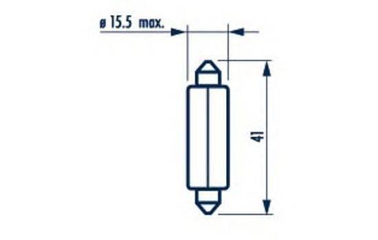 Лампа накаливания, внутренее освещение NARVA 17512