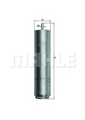 Топливный фильтр MAHLE ORIGINAL KL579D