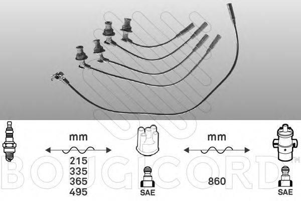 Комплект проводов зажигания BOUGICORD 1420