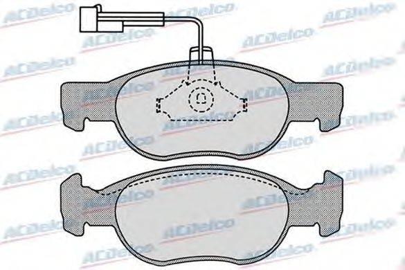 ACDelco (НОМЕР: AC058652D) Комплект тормозных колодок, дисковый тормоз