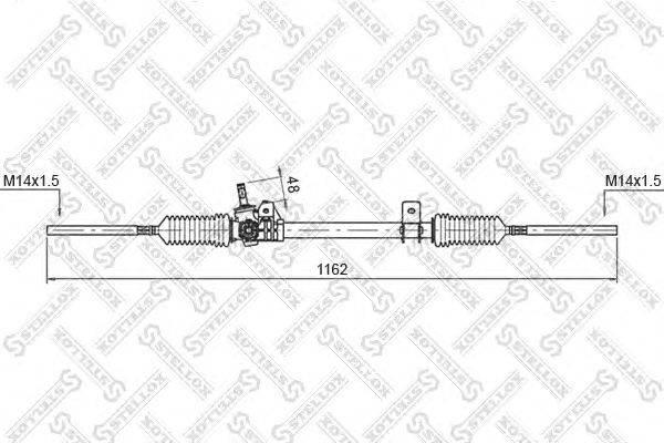 Рулевой механизм STELLOX 00-35003-SX