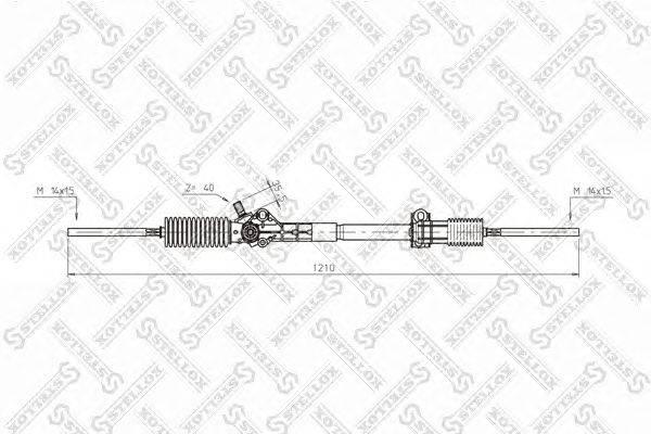 Рулевой механизм STELLOX 00-35006-SX