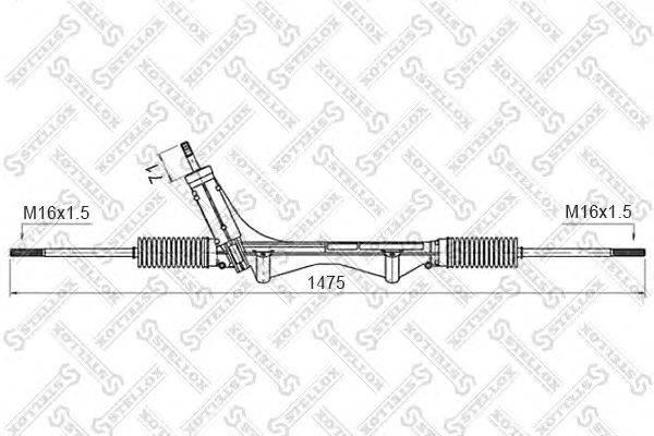 Рулевой механизм STELLOX 00-35016-SX