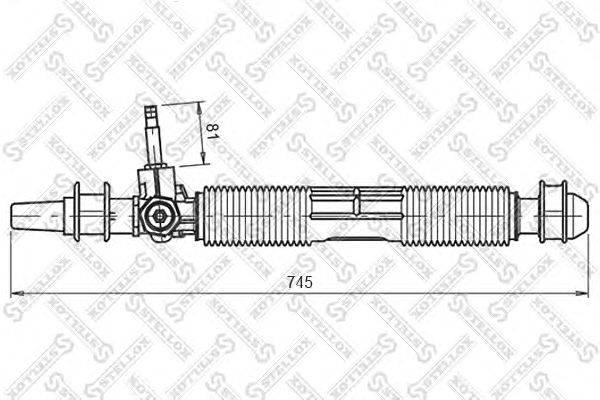 Рулевой механизм STELLOX 00-35020-SX