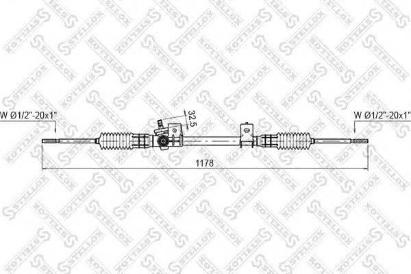 Рулевой механизм STELLOX 00-35030-SX