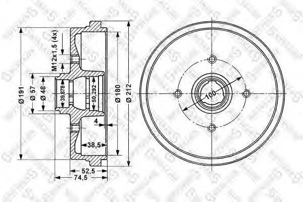 Тормозной барабан STELLOX 60254708SX
