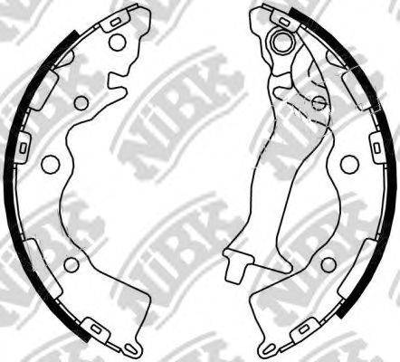 Комплект тормозных колодок NiBK FN0617