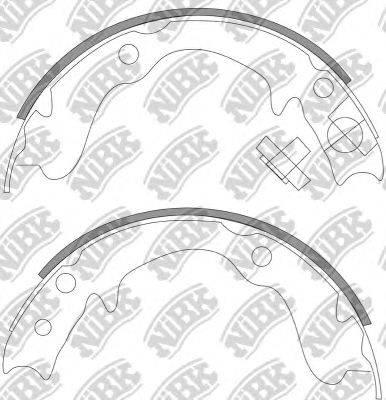 Комплект тормозных колодок NiBK FN0569