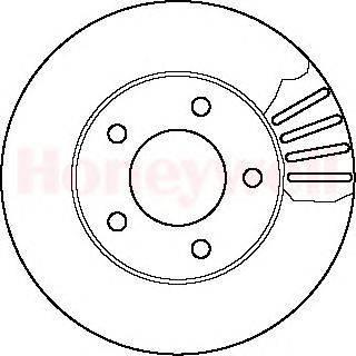 Тормозной диск BENDIX 561357B