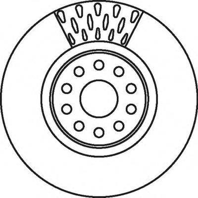 Тормозной диск BENDIX 562085B
