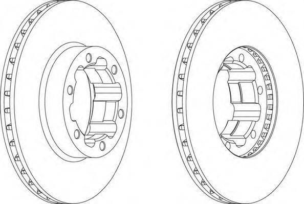 FERODO (НОМЕР: FCR262A) Тормозной диск