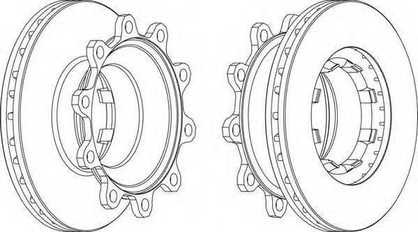 FERODO (НОМЕР: FCR293A) Тормозной диск