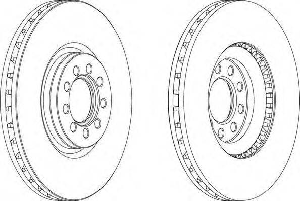 FERODO (НОМЕР: FCR317A) Тормозной диск