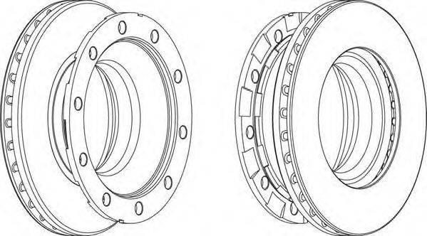 FERODO (НОМЕР: FCR336A) Тормозной диск