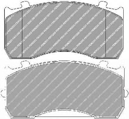 FERODO (НОМЕР: FCV1277BFE) Комплект тормозных колодок, дисковый тормоз