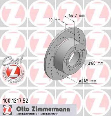 Тормозной диск ZIMMERMANN 100.1217.52