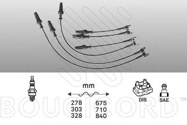Комплект проводов зажигания BOUGICORD 1434