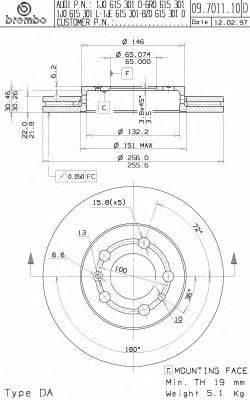 Тормозной диск BRECO BS 8279