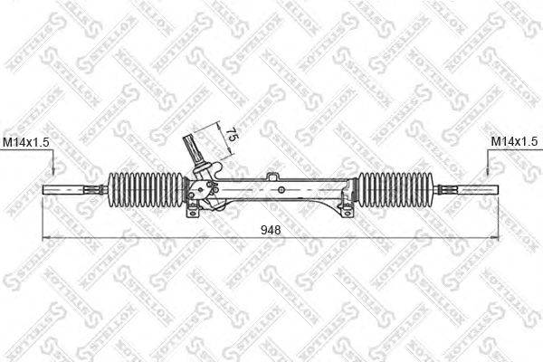 Рулевой механизм STELLOX 00-35005-SX