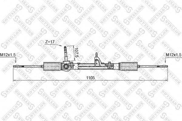 Рулевой механизм STELLOX 00-35011-SX