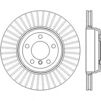 Тормозной диск BENDIX 562437B