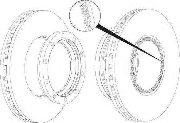 FERODO (НОМЕР: FCR250A) Тормозной диск
