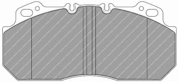 FERODO (НОМЕР: FCV1813B) Комплект тормозных колодок, дисковый тормоз