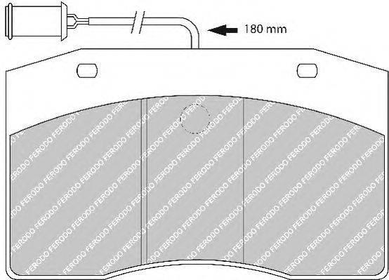 FERODO (НОМЕР: FCV801) Комплект тормозных колодок, дисковый тормоз