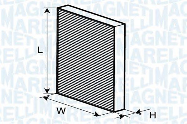 Фильтр, воздух во внутренном пространстве MAGNETI MARELLI 350203061230