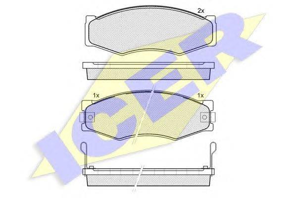 Комплект тормозных колодок, дисковый тормоз ICER 140518