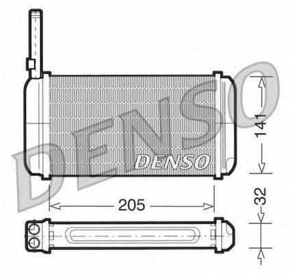 Теплообменник, отопление салона NPS DRR10002