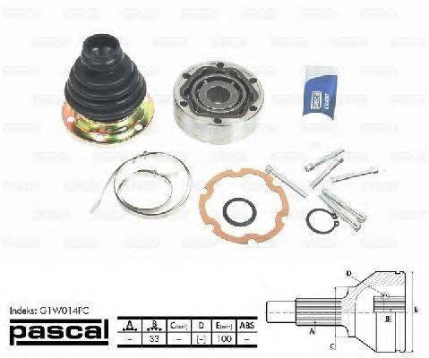 PASCAL (НОМЕР: G1W014PC) Шарнирный комплект, приводной вал