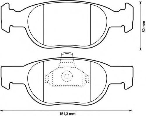 JURID (НОМЕР: 571949J) Комплект тормозных колодок, дисковый тормоз