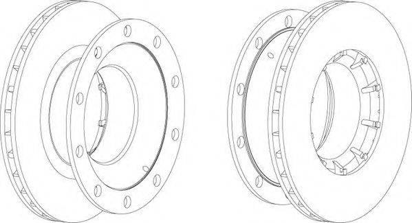 FERODO (НОМЕР: FCR172A) Тормозной диск