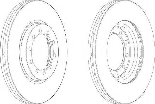 FERODO (НОМЕР: FCR182A) Тормозной диск