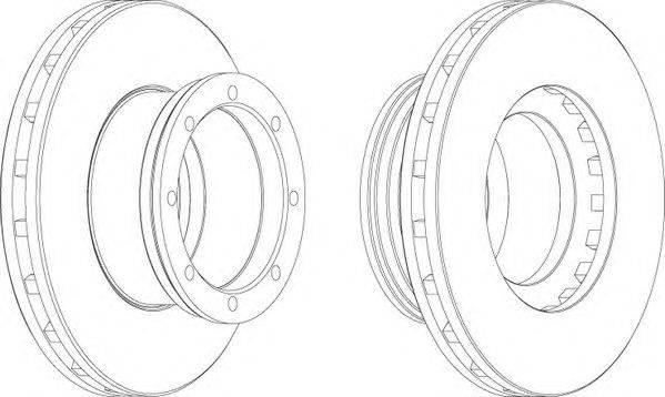 FERODO (НОМЕР: FCR190A) Тормозной диск