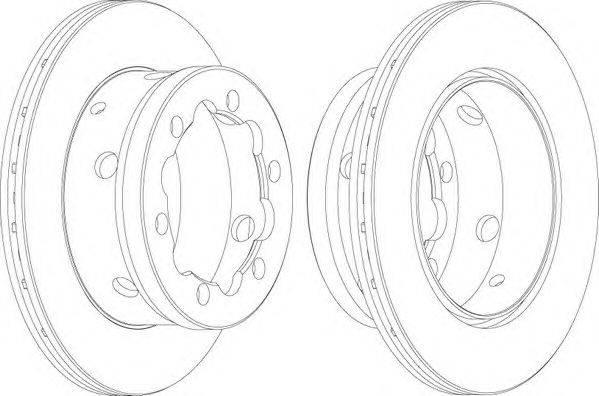 FERODO (НОМЕР: FCR191A) Тормозной диск